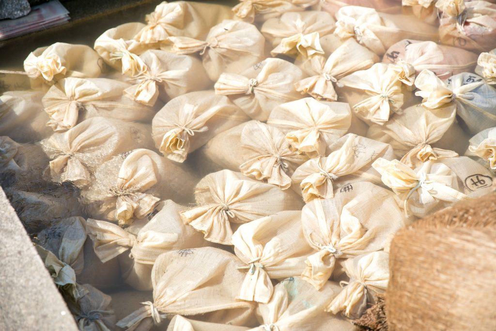 湯田川の芽出し作業~お米の産湯